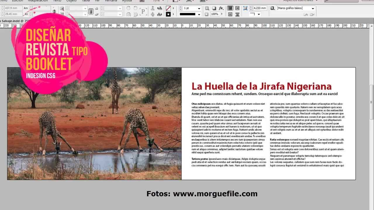 Diseño de revista tipo booklet o cuadernillo en Indesign - YouTube