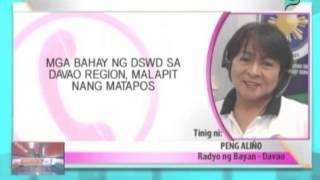 News@1: Mga pabahay na ginastusan ng DSWD sa Davao Region, malapit nang matapos || Aug. 5, 2014