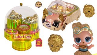 Golden Cutie Cars ! Limited Edition SDCC Comic Con Gold Shopkins