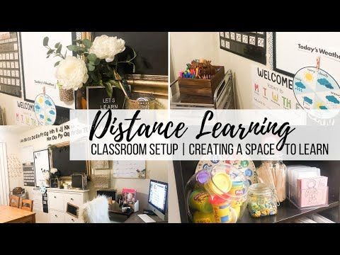 distance-learning-classroom-setup-|-creating-a-space-to-learn-|-2020-school-year