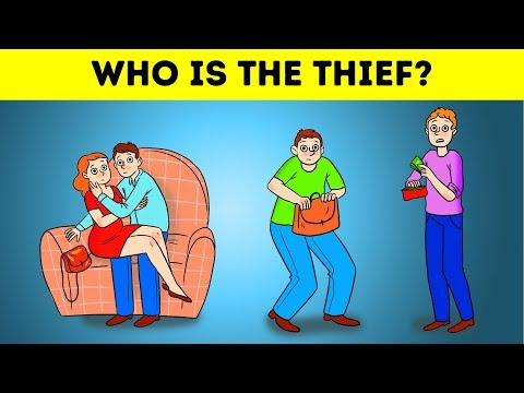 WHO IS THE THIEF 9 RIDDLES ON CRIME AND EMOJI GAMES |