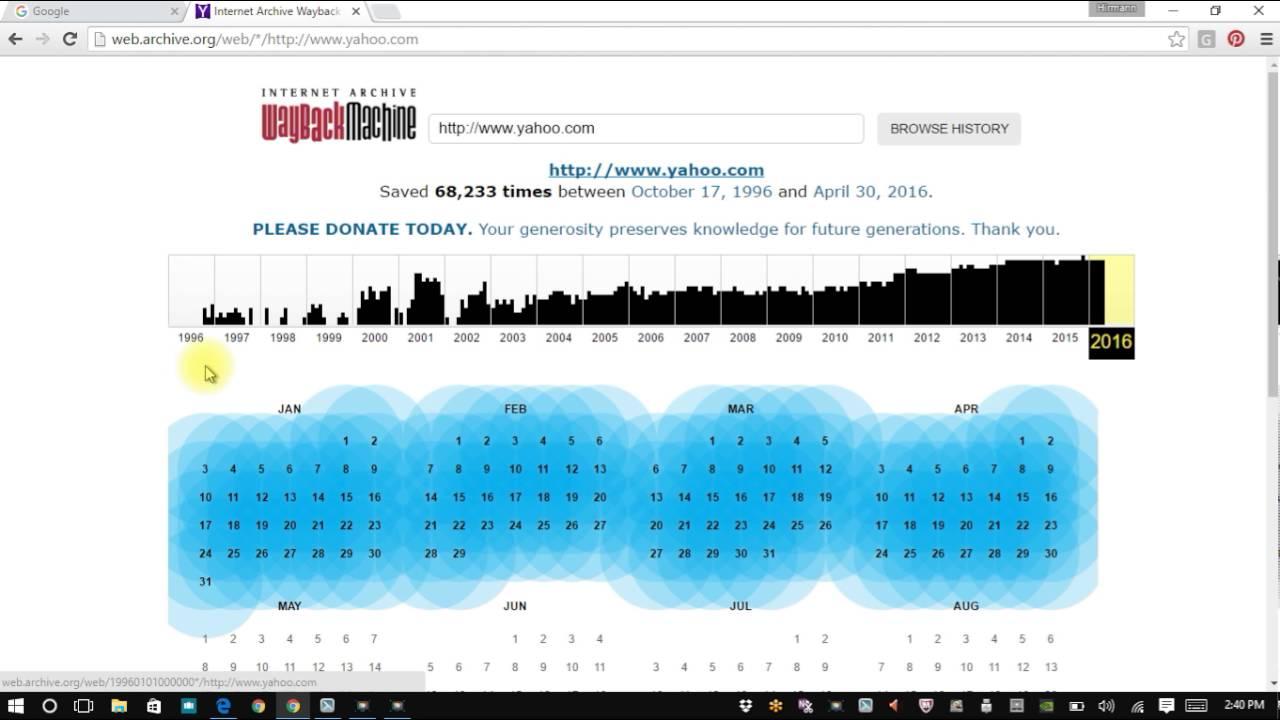 WEB ARCHIVE TIME MACHINE