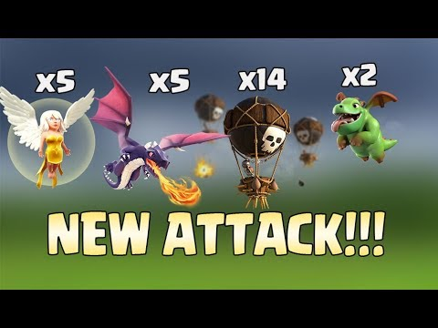Healer + Dragon + Balloon + Baby Dragon: TH11 NEW STRONG TROPHY PUSH ATTACK STRATEGY | Clash Of Clan