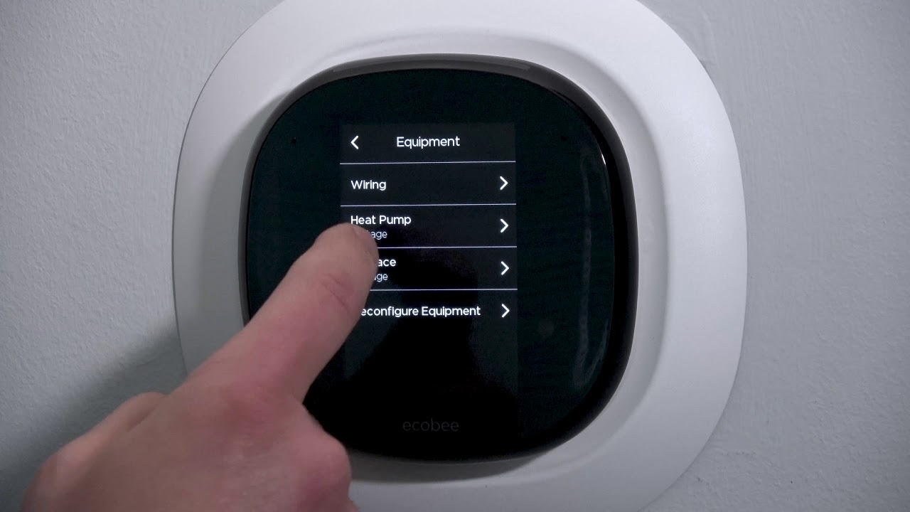 Ecobee4 Pro Heat Pump Settings 5 Or 5 Youtube