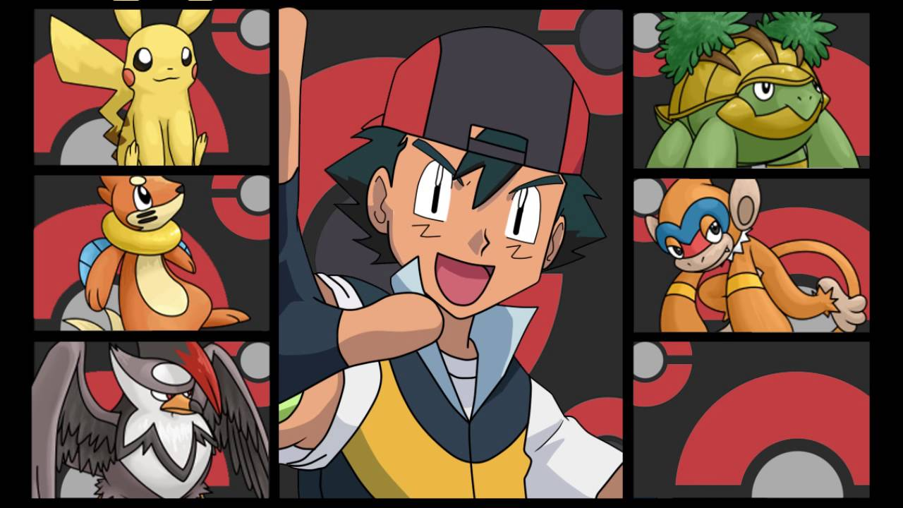ashs pokemon team gen 4 sinnoh youtube