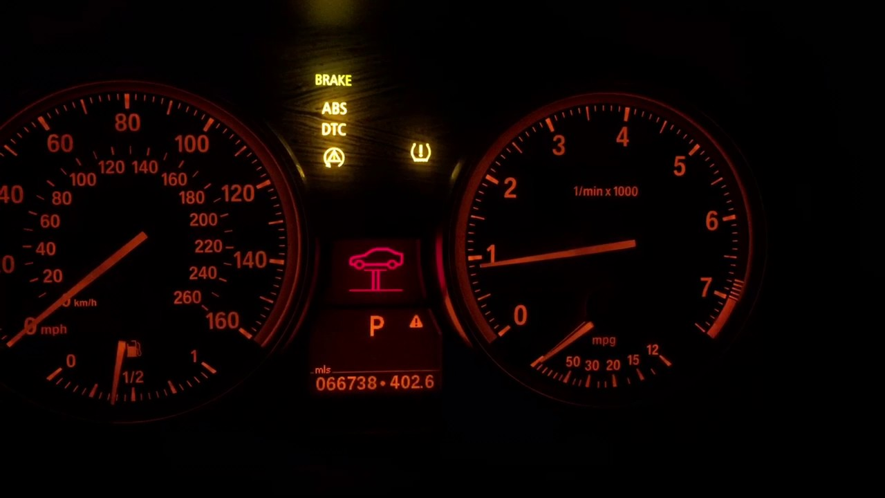 2011 BMW e90 328xi Dash Light Issue (Sedan) - YouTube