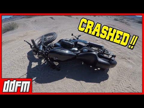 I CRASHED MY HARLEY SPORTSTER! - Saturday Scramble #4
