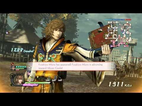 Samurai Warriors 4 - PS4 - Takakage Kobayakawa Combos with DLC Weapon