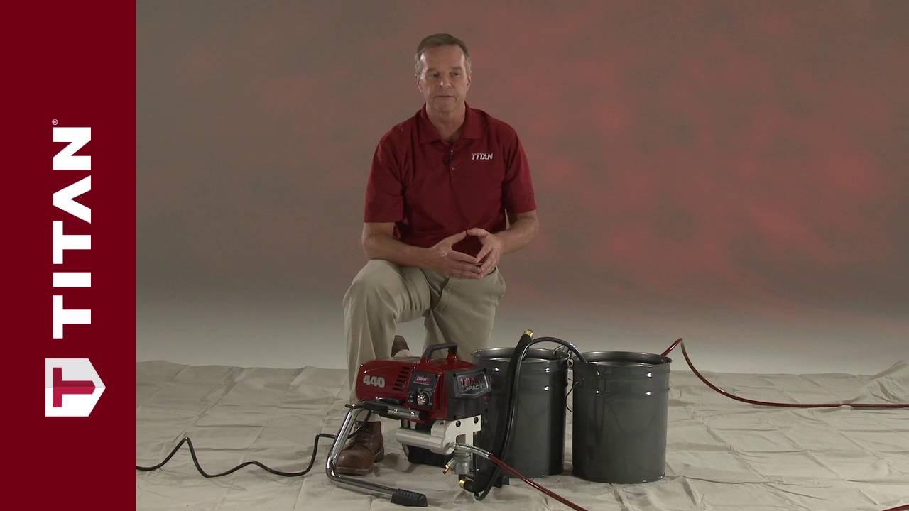 Titan Sprayer Set Up