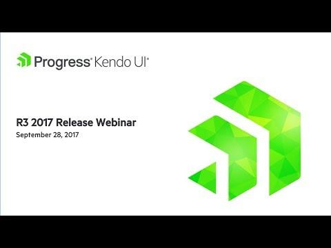 Kendo UI R3 2017 Release Webinar