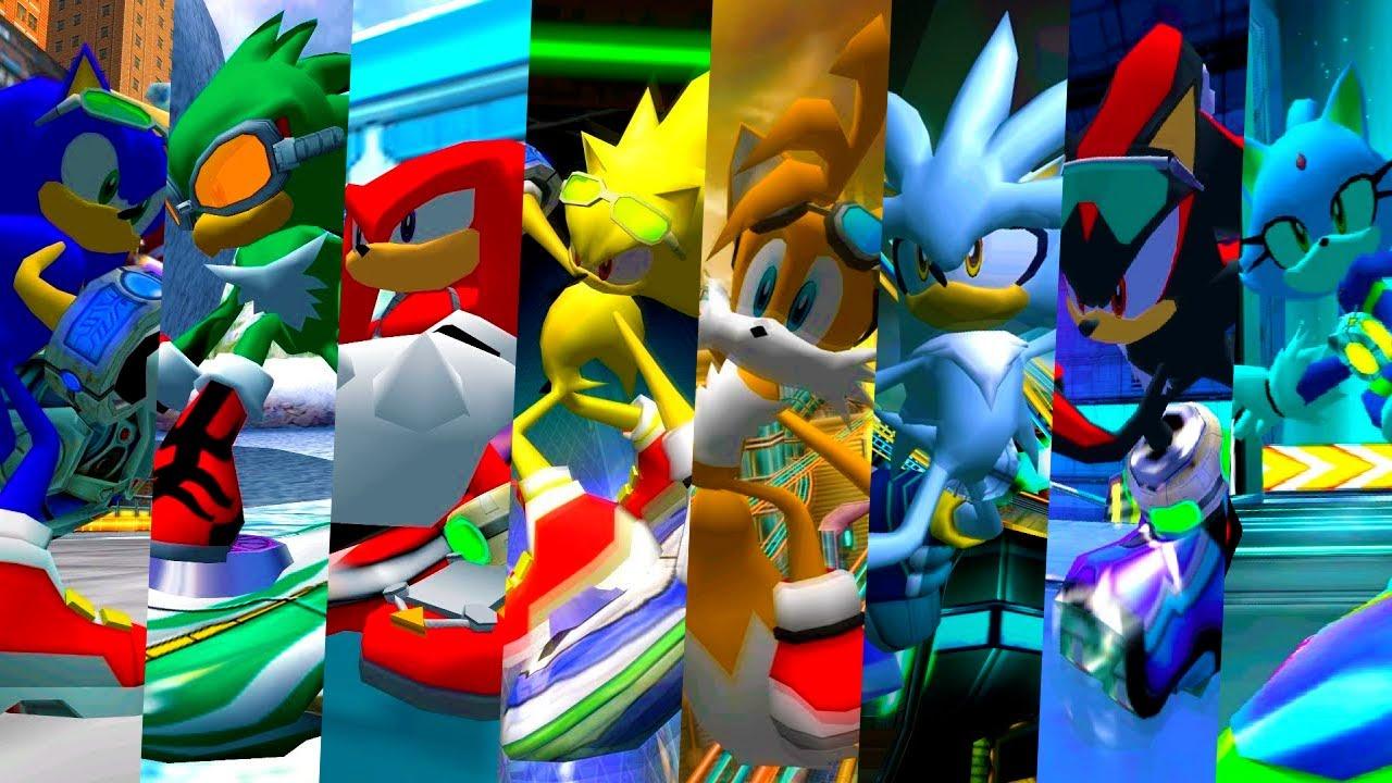 Sonic Riders Zero Gravity All Characters Youtube