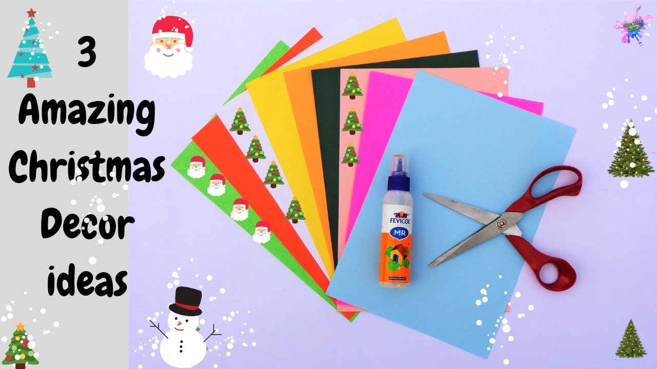 3 Amazing Diy Christmas Craft Ideas Easy Paper Crafts For Home