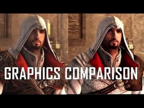 ASSASSIN  39 S CREED EZIO COLLECTION PS4 vs PS3 Graphics Comparison    Ubisoft Trailer Poster