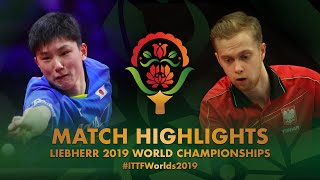 Tomokazu Harimoto vs Marek Badowski | 2019 World Championships Highlights (R128)