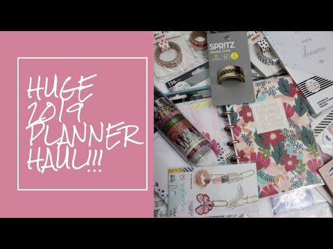 Massive PLANNER HAUL!  | 2019 planner supplies
