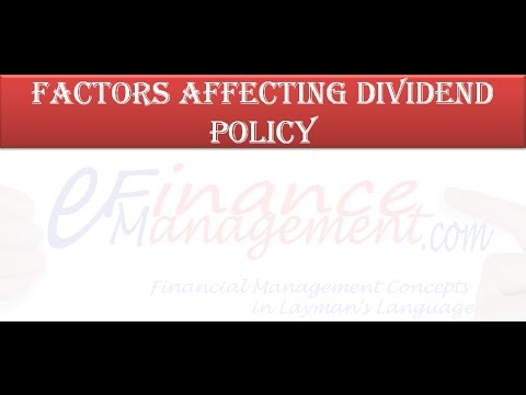 factors affecting the dividend policy