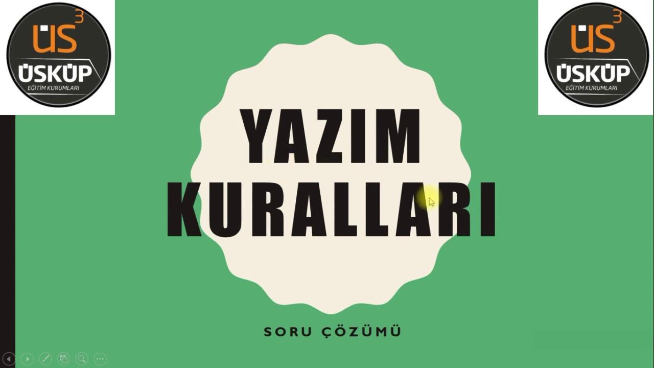 8. Sınıf Türkçe - Yazım Kuralları Soru Çözümü