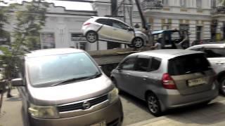 Эвакуация автомобилей во Владивостоке 2(, 2015-08-19T05:50:18.000Z)