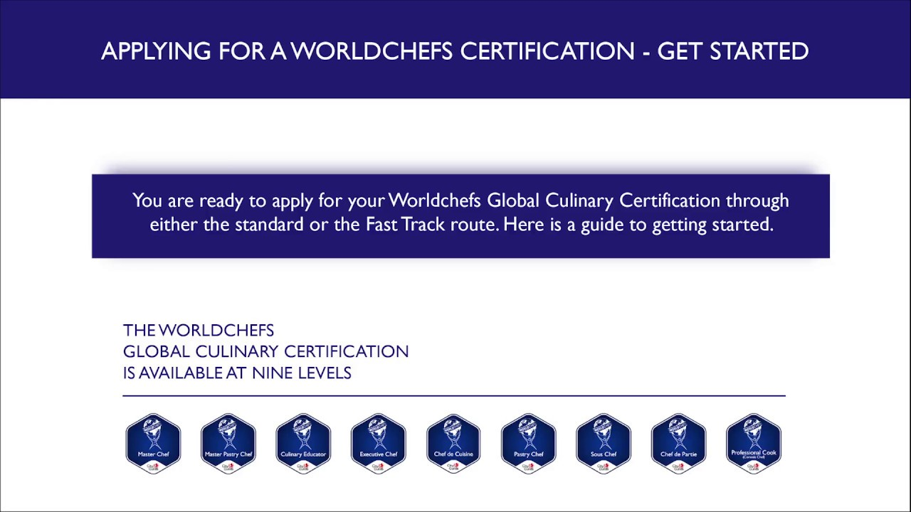 How To Apply To Worldchefs Global Culinary Certification Youtube