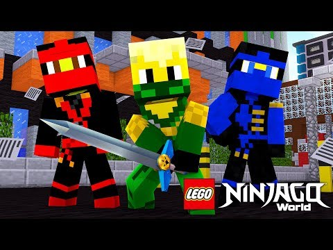 THE BEGINNING OF THE LEGO NINJAGO WARRIORS IN MINECRAFT! w/ Little Lizard
