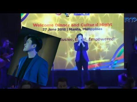 Kaye Cal serenades the Asean 2018 delegates ctto radio television malacañang - rtvm