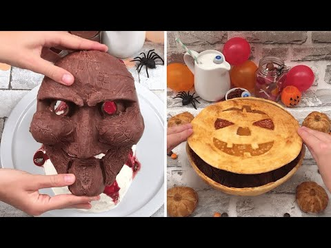 The Best Halloween Desserts 🎃 Tiramisu Mask 👺 Apple Pie 🍏 Cake of Horrors🧁