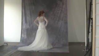 видео кружевное свадебное платье с длинными