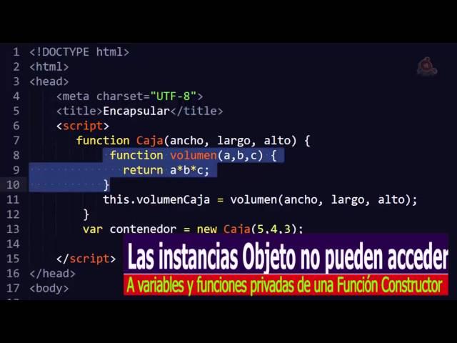 29.- Curso de JavaScrit para principiantes. Encapsulación en JavaScript.