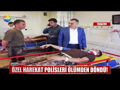 Özel harekat polisleri ölümden döndü!