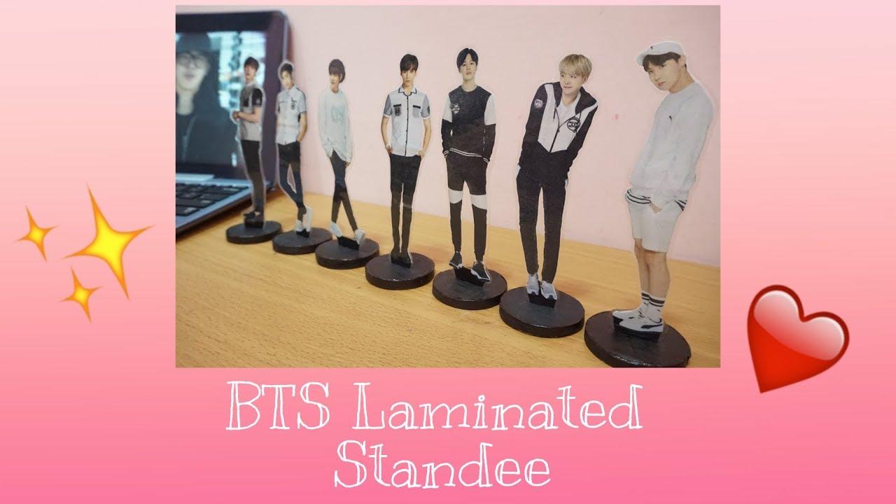 DIY BTS Laminated Standee