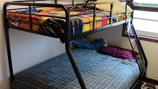 Twin over full bunk bed set up | April 2016