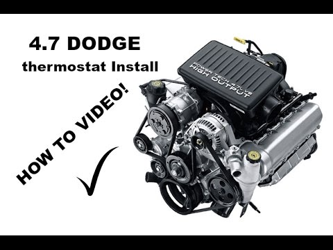 4.7 Dodge Thermostat Replacet Jeep Grand Cherokee H.O - YouTube