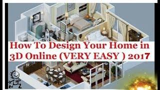 How To Design Your Home In 3d Online 2017 Urdu/hindi  floor Plans 3d And Interior Design Online Free