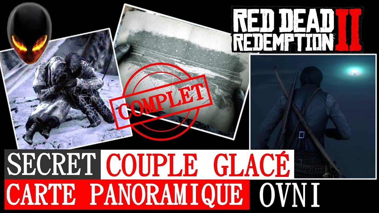 red dead redemption 2 carte panoramique RED DEAD REDEMPTION 2: SECRET Couple Glacé Carte Panoramique +