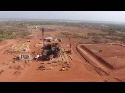 Construction progress at Yanfolila