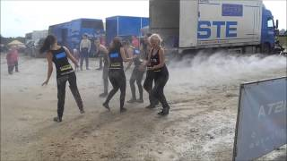 Dirty estonian rx pitgirls are washed up after dancing in the mud