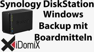 Synology DiskStation Windows Backup mit Boardmitteln Sichern und Wiederherstellen