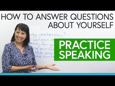 Practice Speaking English: How to give short answers about yourself
