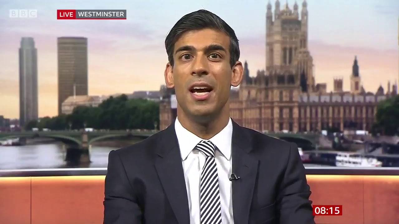Rishi Sunak On Bbc Breakfast Talking About No Deal