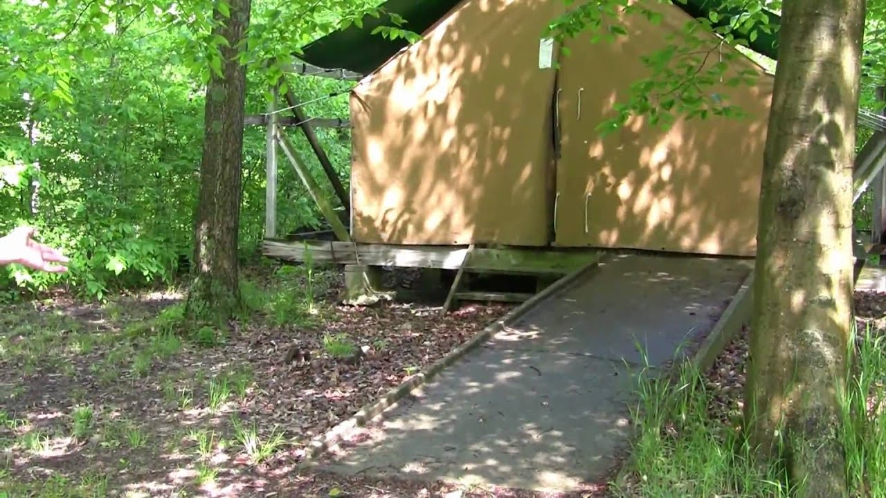 Platform Tent C&ing for Girl Scouts & Platform Tent Camping for Girl Scouts - YouTube