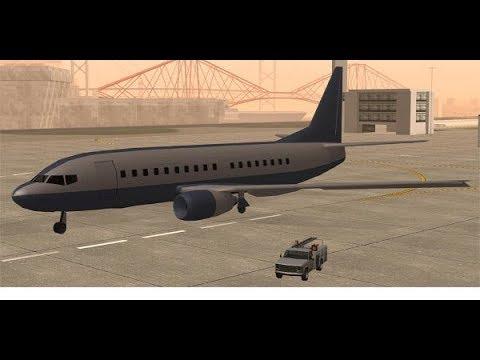 Как попасть в аэропорт в игре Gta San Andreas. Как достать самый большой самолет  Gta San Andreas