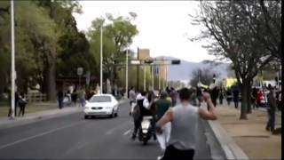 Marine Upset With Albuquerque Protester