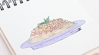 Easily Draw a Delicious Spaghetti - DIY Crafts - Guidecentral