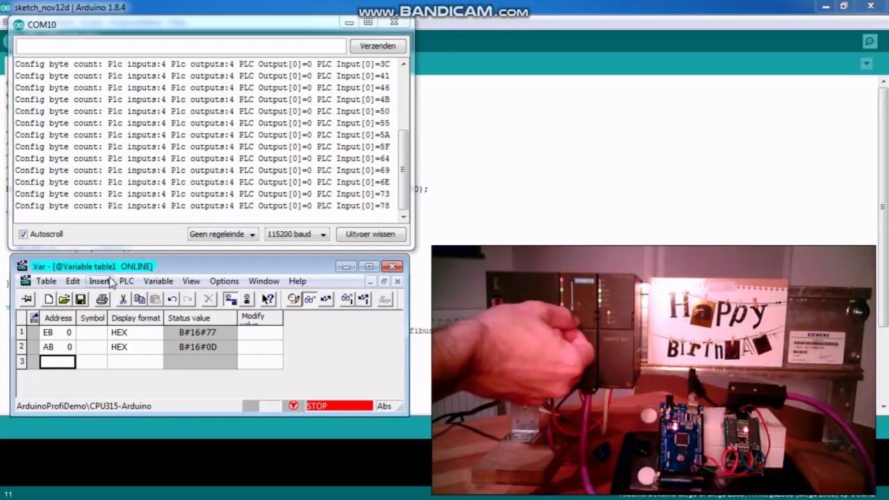 Arduino Mega Profibus-DP library demo