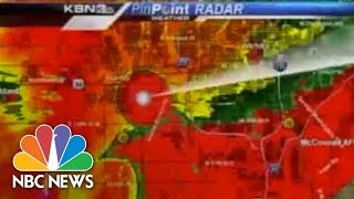 Raw: Tornado Hits TV Station, Weatherman Takes Cover | Archives | NBC News