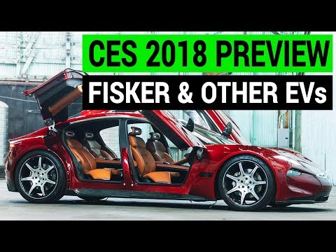 Fisker EMotion & Other Electric Cars at CES 2018