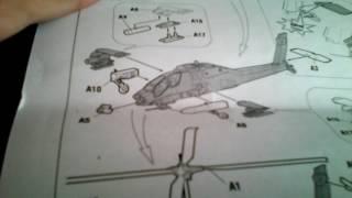 Розпакування збірної моделі Американський вертоліт АПАЧ АН 64 від фірми ЗІРКА!