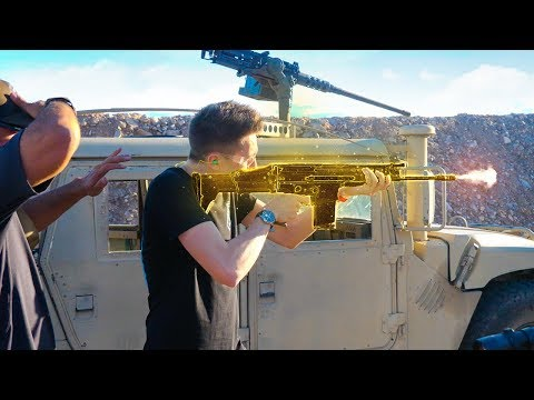 FORTNITE GOLDEN SCAR IN REAL LIFE!