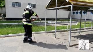 Закрепление спасательной веревки за конструкцию 2 способ