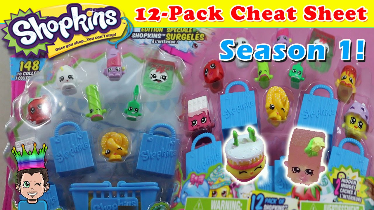 Another Try At Slark Ultra Rare: Season 1 Shopkins Cheat Sheet ♛ 12-Pack #2